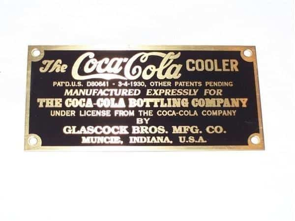 ID Plate for Glascock Coolers