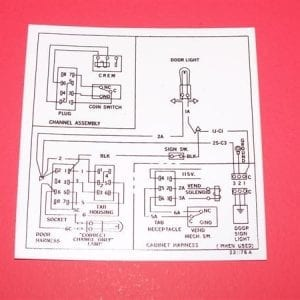 Wiring Diagram Decal for Vendo V-63, V-90 & V-126