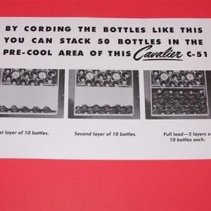 Bottle Loading Instruction Decal for Cavalier C-51