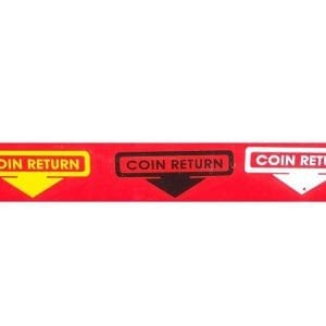"""Coin Return"" Arrow Decal for VMC 27, VMC 27A, VMC 33 & VMC 72"