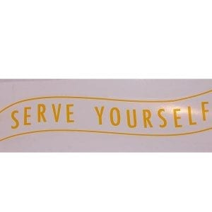"""Serve Yourself"" Banner Decal"