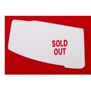 """Sold Out""  Decal for Vendo V-23"