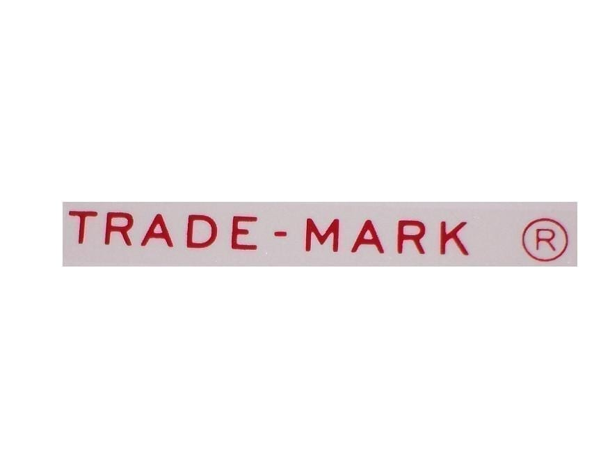 """""""Trade-Mark"""" Decal for Chest Cooler Lids"""