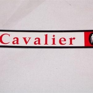 """Cavalier"" Decal for 1960's Model Machines"