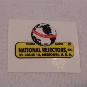 "National Rejectors ""World Globe"" Decal"