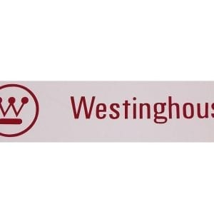 """Westinghouse"" Logo Red or White Vinyl Decal"