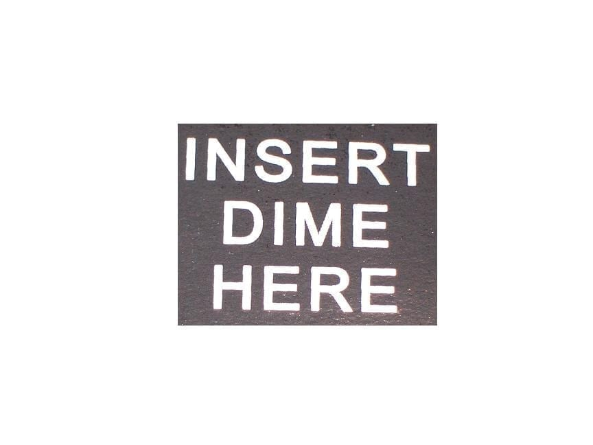 """""""Insert Dime Here"""" Decal for Jacobs 26 & 35"""