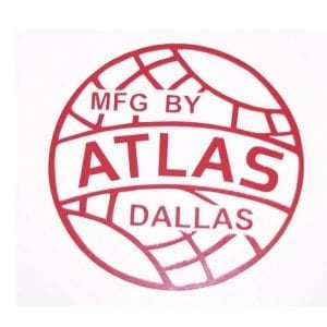 """ATLAS"" Red Vinyl Decal"