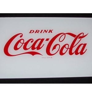 """Drink Coca-Cola"" Lite-Up Panel for Vendo V-63 & V-90"