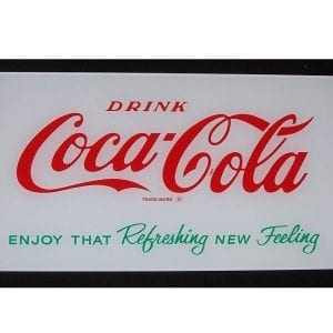 """Drink Coca-Cola"" & ""Enjoy That Refreshing New Feeling"" Lite Up Panel for Vendorlator VF-56"