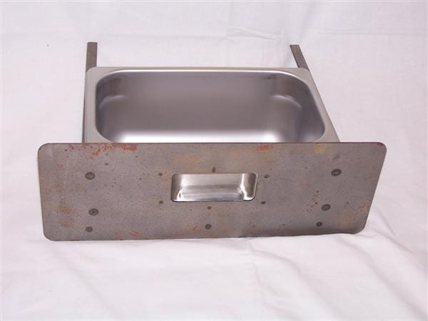 """Drawer Cap Catcher With """"Ice"""" Decal & Stainless Steel Pan"""