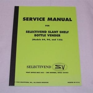 Selectivend Models 64, 96 & 132 Service & Parts Manual