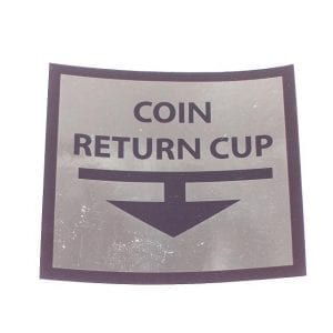 Coin Return Cup Arrow For Early Ideal Models
