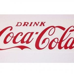 """Drink Coca-Cola"" Red Vinyl Decal for Vendo V-56"