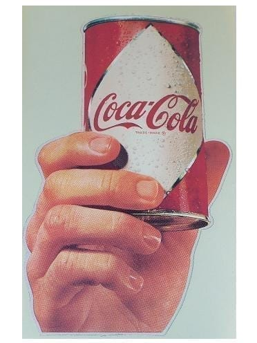 Reproduction Coca-Cola Hand & Can Water Release Decal