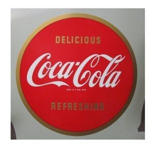 "12"" Round Coca Cola Vinyl Decal"