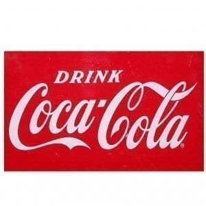 Drink Coca Cola Vinyl Decal for the Airline Cooler