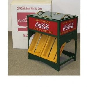Reproduction Coca-Cola Mini Glascock Salesman Sample Cooler