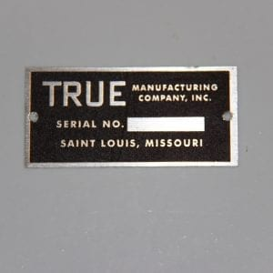 True Manufacturing Company ID Tag