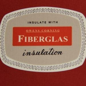 Owens Corning Fiberglass Decal