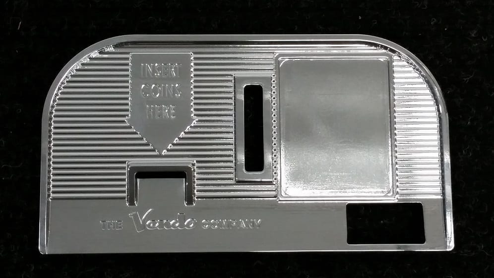 Vendo V-44 Chromed Faceplate-Coin Entry Bezel