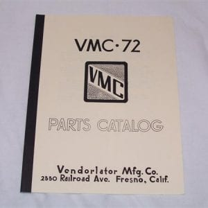 Vendorlator VMC 72 Manual