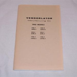 Vendorlator VMC Manual for 1960 Machines
