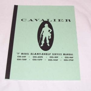 Cavalier CSS Slant Shelf Models Service Manual