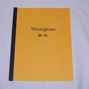 Westinghouse BV-56 Service Manual