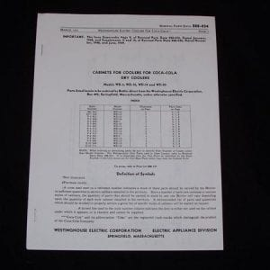 Westinghouse WD-5, WD-10, WD-12, WD-20 Dry Coolers Parts List