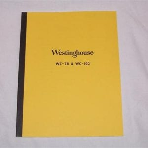 Westinghouse WC-78-1 & WC-102-1 Parts List