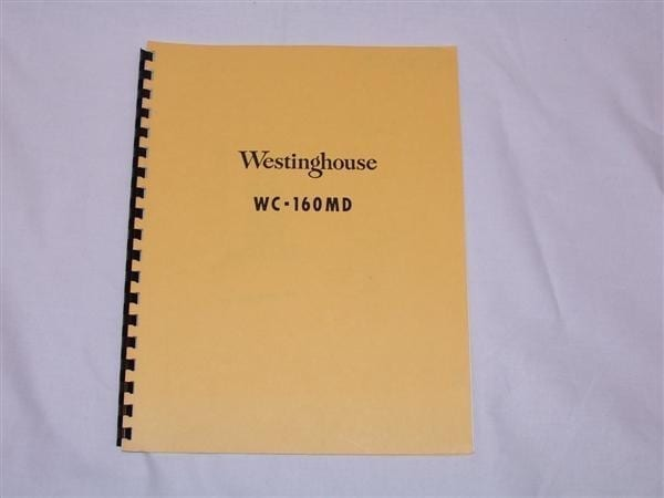 Westnghouse WC-160MD Service Manual