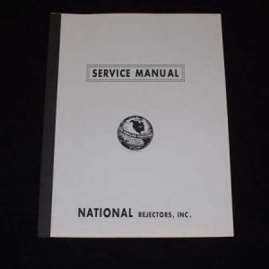 National Rejector 1200 & 3400 Series Coin Changers Manual