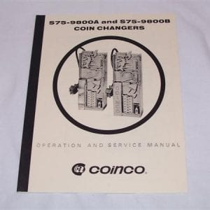 Coinco Model S75-9800A & S85-9800B Coin Changers Service Manual