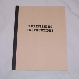 Refinishing Instructions Manual for Coke Coolers & Macines (Mid 50's)