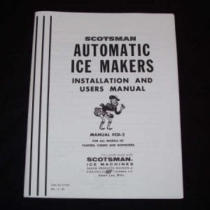 Scotsman Automatic Ice Makers Manual