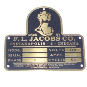 Serial Plate for Jacobs J-26