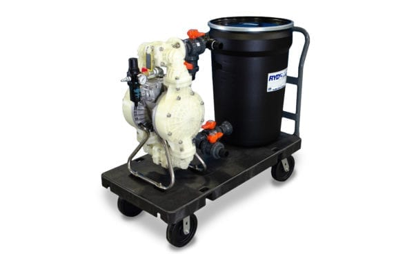 RYDLYME Industrial Descaling System 15PPC. Unit shown on handcart.
