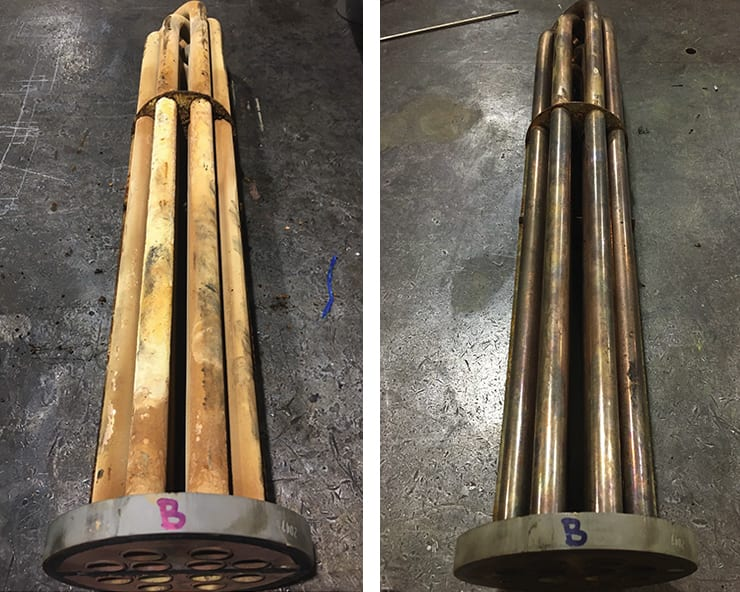 Shell & Tube Heat Exchanger Before After RYDLYME
