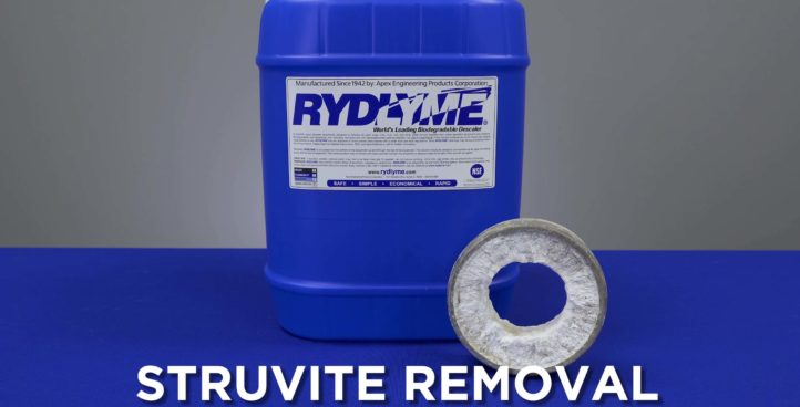 RYDLYME Biodegradable Descaler - Struvite Removal from Pipe